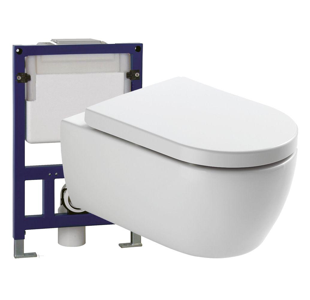 WC suspendu offre spéciale pack économique 4: NT2039 - bâti-support G3005 et plaque de déclenchement – Bild 1