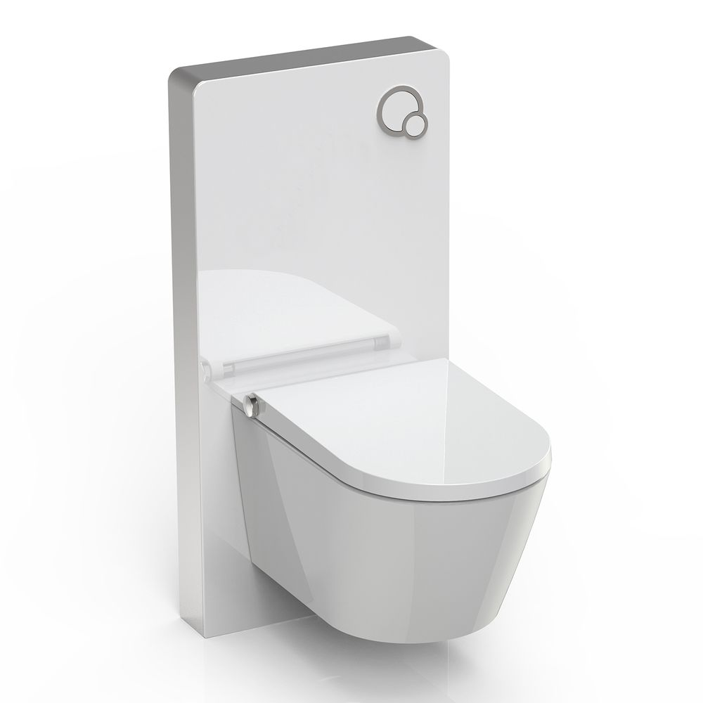 Shower Toilet BERNSTEIN Basic 1102 - special saving package 6 - and sanitary module for wall-mounted WC - white – Bild 1