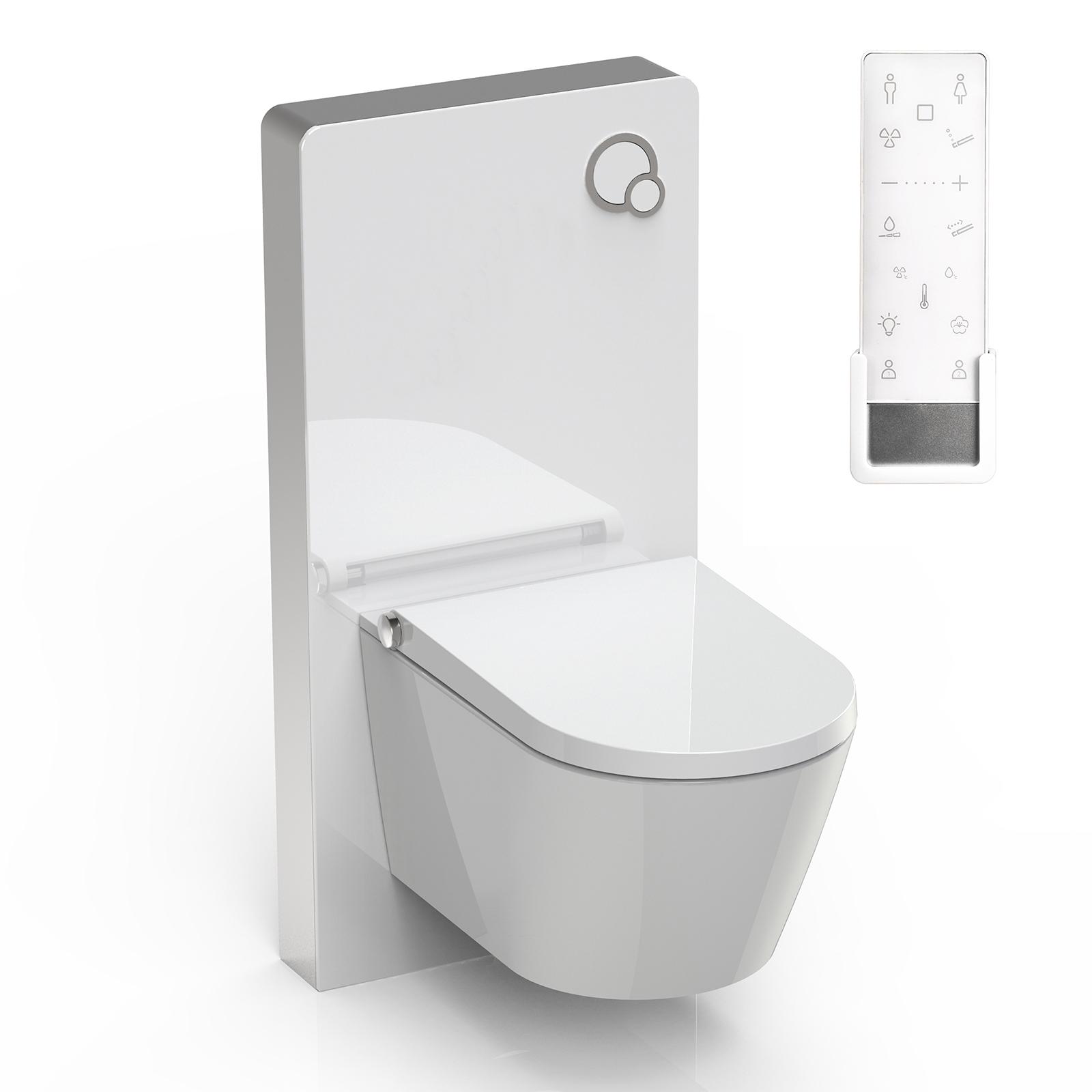 WC-Sparpaket 8: BERNSTEIN DUSCH-WC PRO+ 1102 Komplettanlage & Sanitärmodul 805 in Weiß