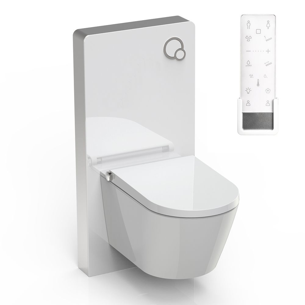 Shower toilet BERNSTEIN DUSCH-WC PRO+ 1102 special saving package 8 - and sanitary module for wall-mounted WC - white – Bild 1