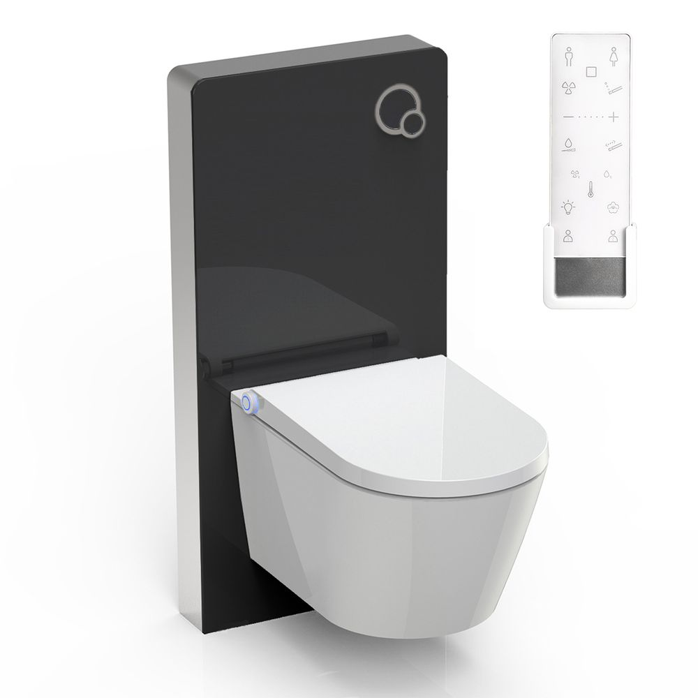 Shower toilet BERNSTEIN DUSCH-WC PRO+ 1102  special saving package 9 - and  black sanitary module for wall-mounted WC  – Bild 1