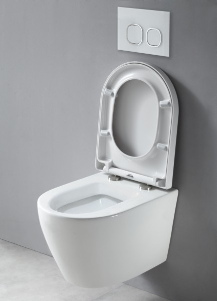 Wall Hung WC B-8030 - special saving package 10 - and support frame G3004A  with flush plate  – Bild 2