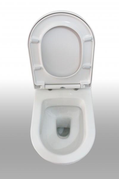 WC suspendu offre spéciale pack économique 10: B-8030 - et bâti-support G3004A avec plaque de déclenchement – Bild 3