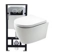 Wall Hung WC B-8030 - special saving package 10 - and support frame G3004A  with flush plate