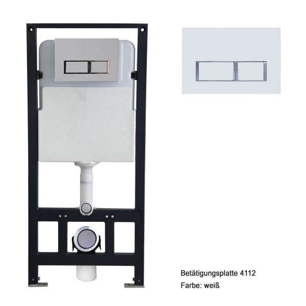 Wall Hung WC B-8030 - Black -special saving package 12 - and support frame G3004A  with flush plate  – Bild 7