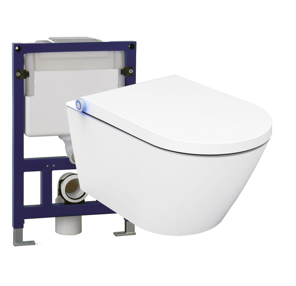 Shower Toilet BERNSTEIN Basic 1102 - special saving package 15 - and support frame G3005 with flush plate  – Bild 1