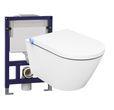 WC-Komplettpaket 15: DUSCH-WC Basic 1102 & Vorwandelement G3005 und Betätigungsplatte oben 001