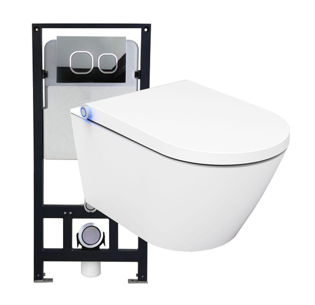 WC lavant BERNSTEIN Basic 1102 offre spéciale pack économique 17 - bâti-support G3004A et plaque de déclenchement – Bild 1