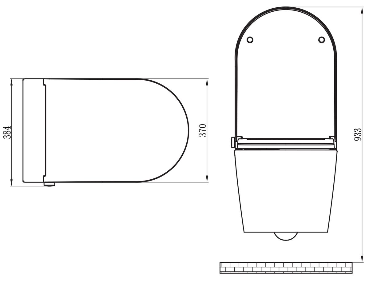 Shower Toilet BERNSTEIN Basic 1102 - special saving package 17 - and support frame G3004A  with flush plate  – Bild 12