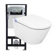 WC-Komplettpaket 17: Bernstein Dusch-WC Basic 1102 und Soft-Close Sitz mit Vorwandelement G3004A und Betätigungsplatte vorne