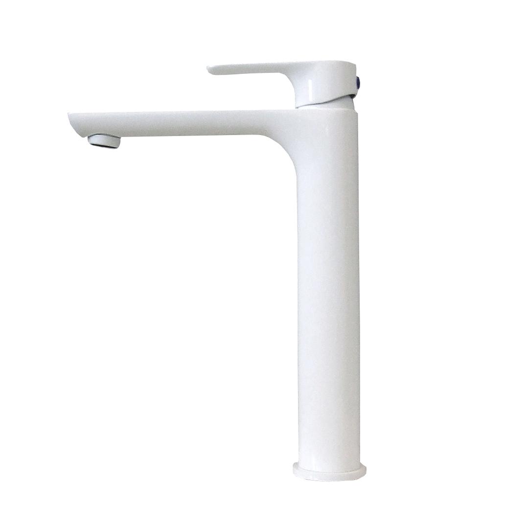 Robinet Mitigeur Pour Lavabo Ou Vasque 4025w En Blanc Brillant Le