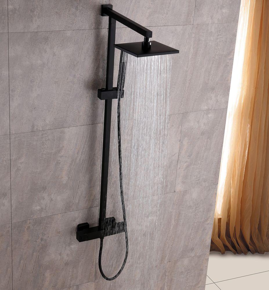 SEDAL Thermostatic Shower system 8921B  Basic- Black - optional square shower head  – Bild 2