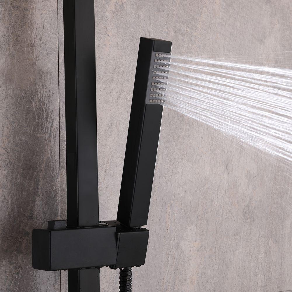 Système de douche combiné thermostatique  SEDAL- 8921B Basic en noir - avec ou sans tête de douche – Bild 4