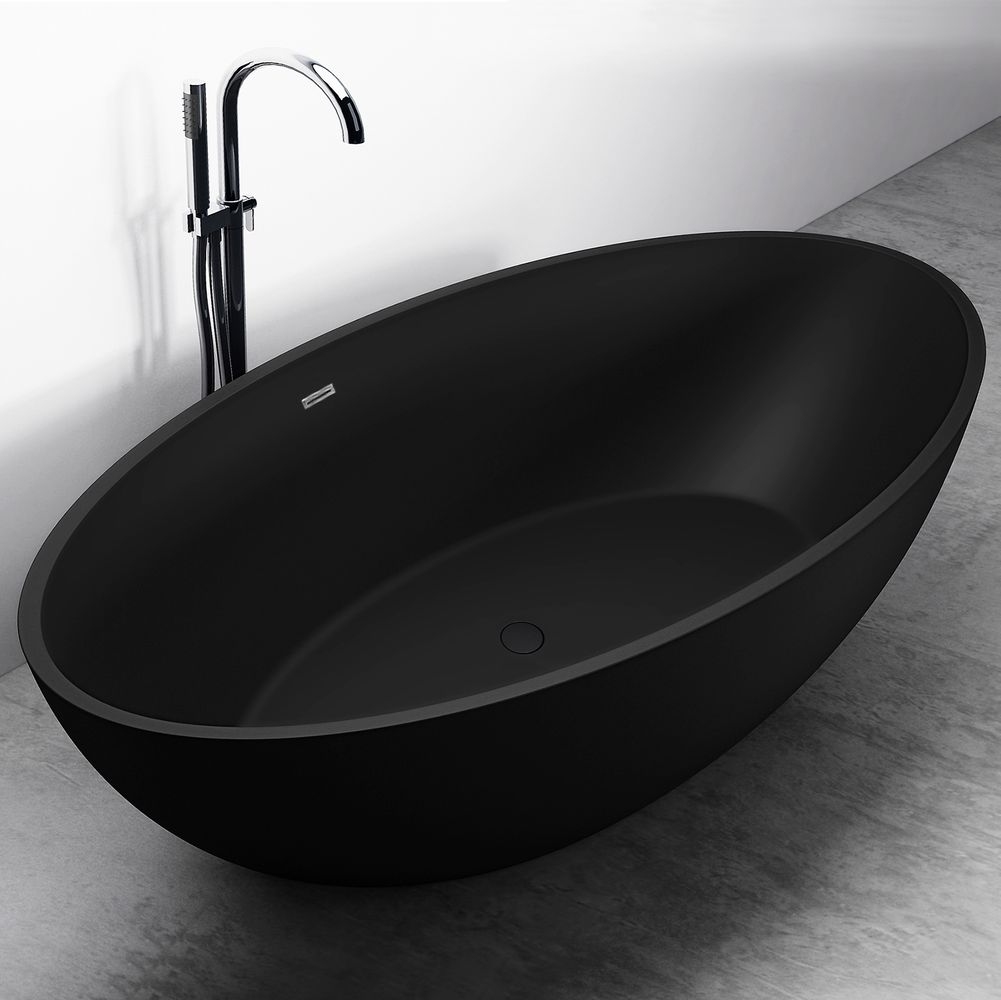Freestanding Bathtub RELAX - black - 176x103cm – Bild 1