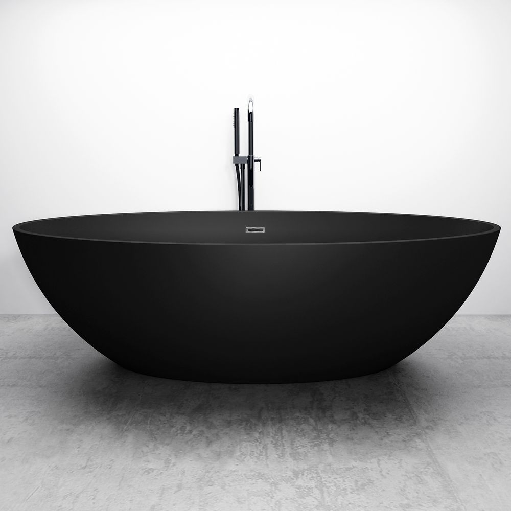 Freestanding Bathtub RELAX - black - 176x103cm – Bild 2