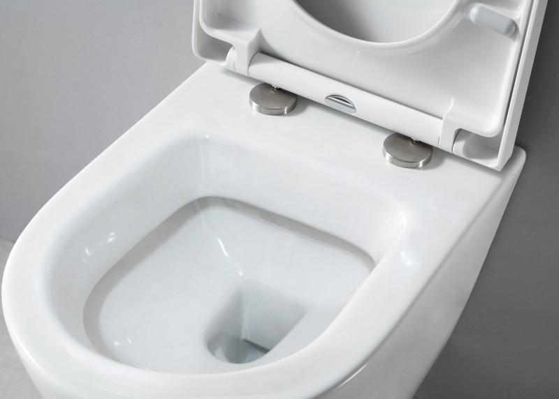 WC-Komplettpaket 20: WC B-8030 und Soft-Close Sitz mit Vorwandelement G3008 und Betätigungsplatte vorne – Bild 4