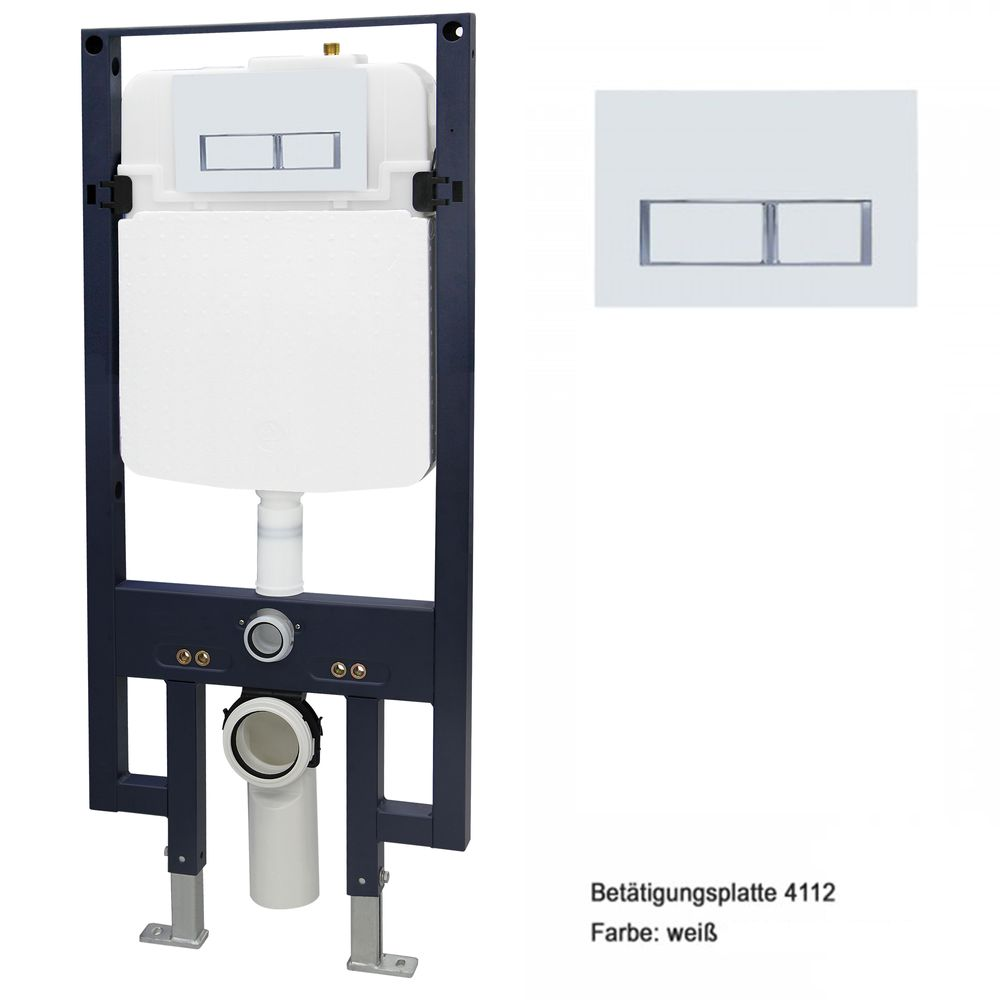 Wall Hung WC  without flushing rim - special saving package 22: NT2039 - and support frame G3008 with flush plate  – Bild 7