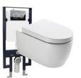 WC-Komplettpaket 22: WC NT2039 und Soft-Close Sitz mit Vorwandelement G3008 und Betätigungsplatte vorne 001