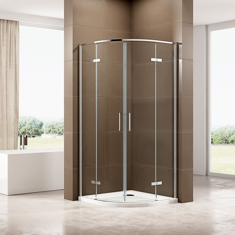 Quadrant Shower Enclosure EX406A - ESG-Safety Glass with Nano Coating - different widths available – Bild 1