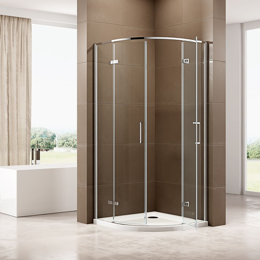 Quadrant Shower Enclosure EX406A - ESG-Safety Glass with Nano Coating - different widths available – Bild 2