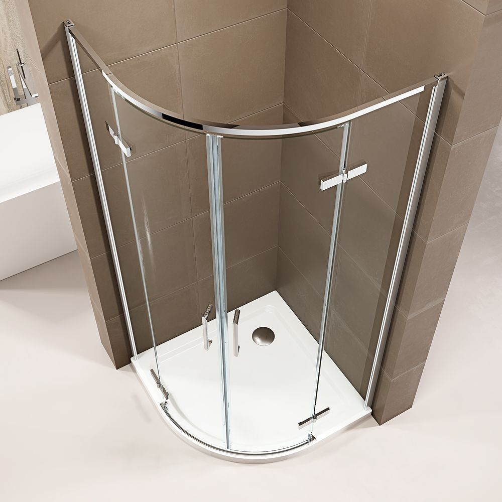 Quadrant Shower Enclosure EX406A - ESG-Safety Glass with Nano Coating - different widths available – Bild 3