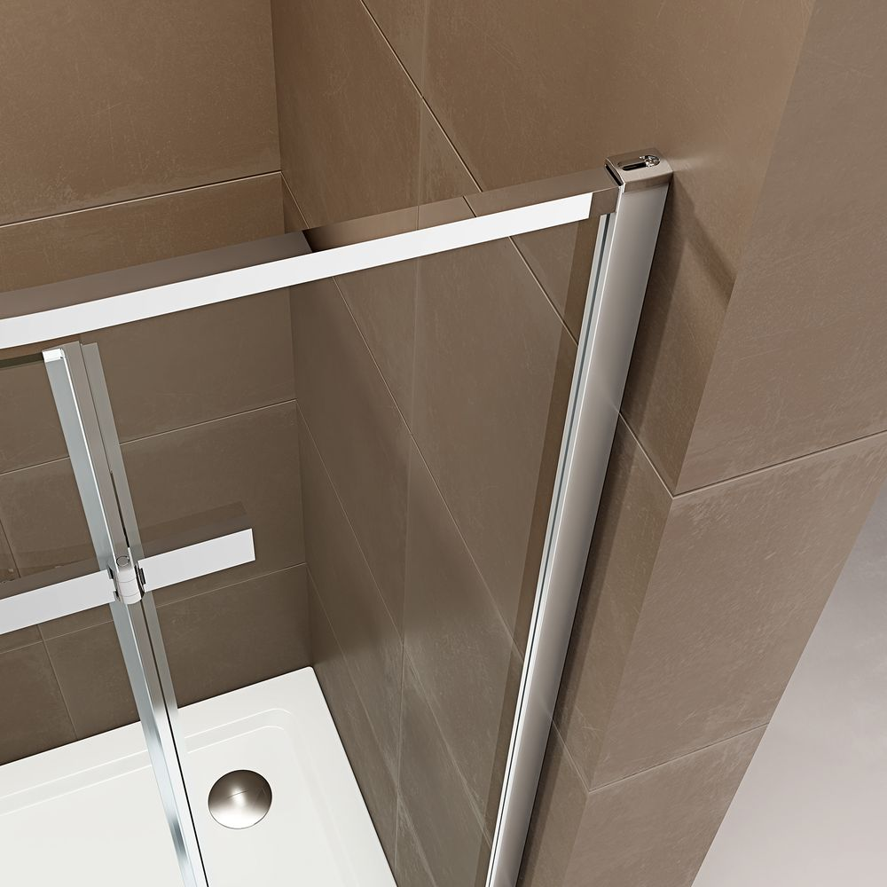 Quadrant Shower Enclosure EX406A - ESG-Safety Glass with Nano Coating - different widths available – Bild 5