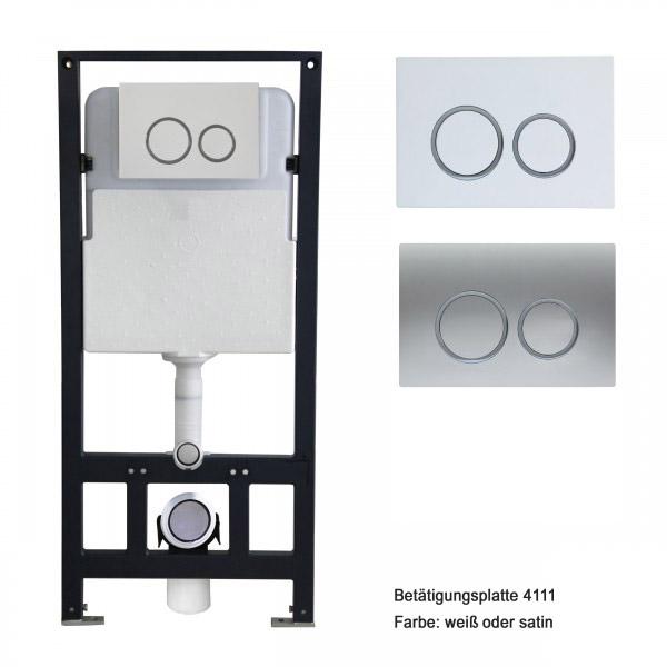 WC-Komplettpaket 25: Wand-WC NT2040 mit SoftClose Sitz und Vorwandelement G3004A inkl. Betätigungsplatte vorne – Bild 4