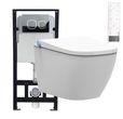 WC-Komplettpaket 26: BERNSTEIN DUSCH-WC PRO+ 1104 und Soft-Close Sitz mit Vorwandelement G3004A und Betätigungsplatte vorne