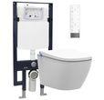 WC-Komplettpaket 28: BERNSTEIN DUSCH-WC PRO+ 1104 und Soft-Close Sitz mit Vorwandelement G3008 und Betätigungsplatte vorne 001