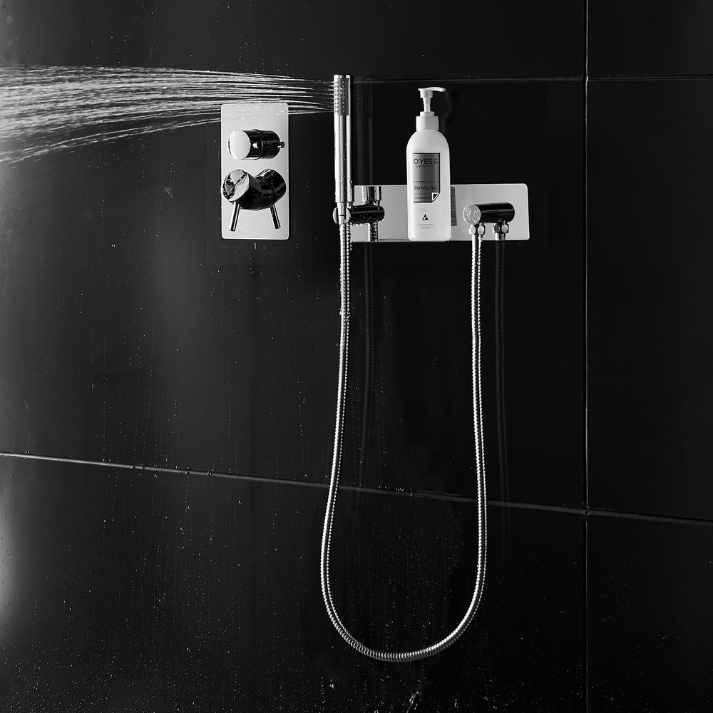 Wall Mounted Hand Shower Set with Cover Plate - includes Hand Shower and Shower Hose CZT050-2  – Bild 2