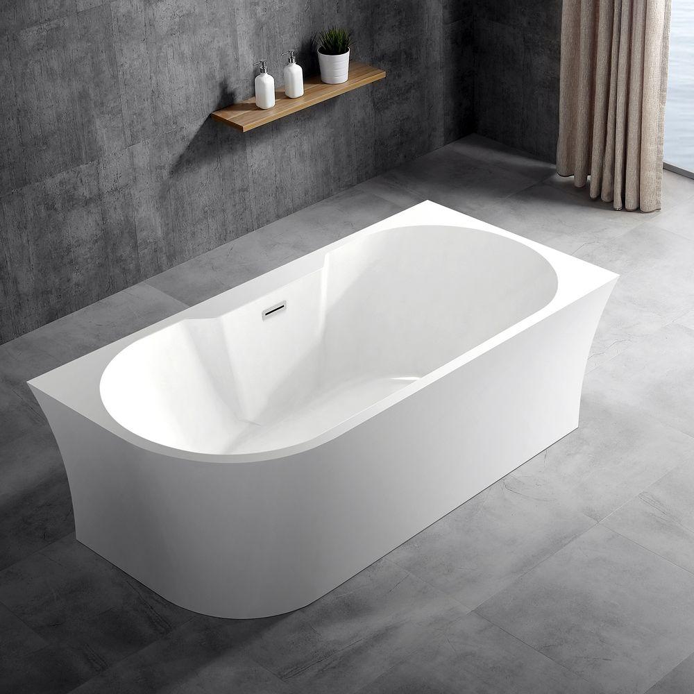 Vrijstaand bad NOVA CORNER PLUS in sanitair acryl wit - installatie rechterzijde - 170 x 78 cm - kranen 6080 optioneel – Bild 2