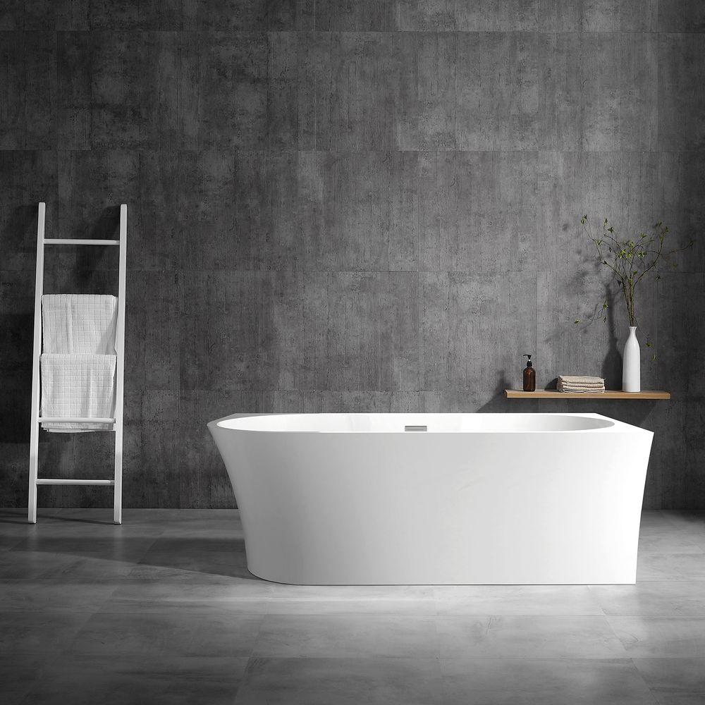 Vrijstaand bad NOVA CORNER PLUS in sanitair acryl wit - installatie rechterzijde - 170 x 78 cm - kranen 6080 optioneel – Bild 3