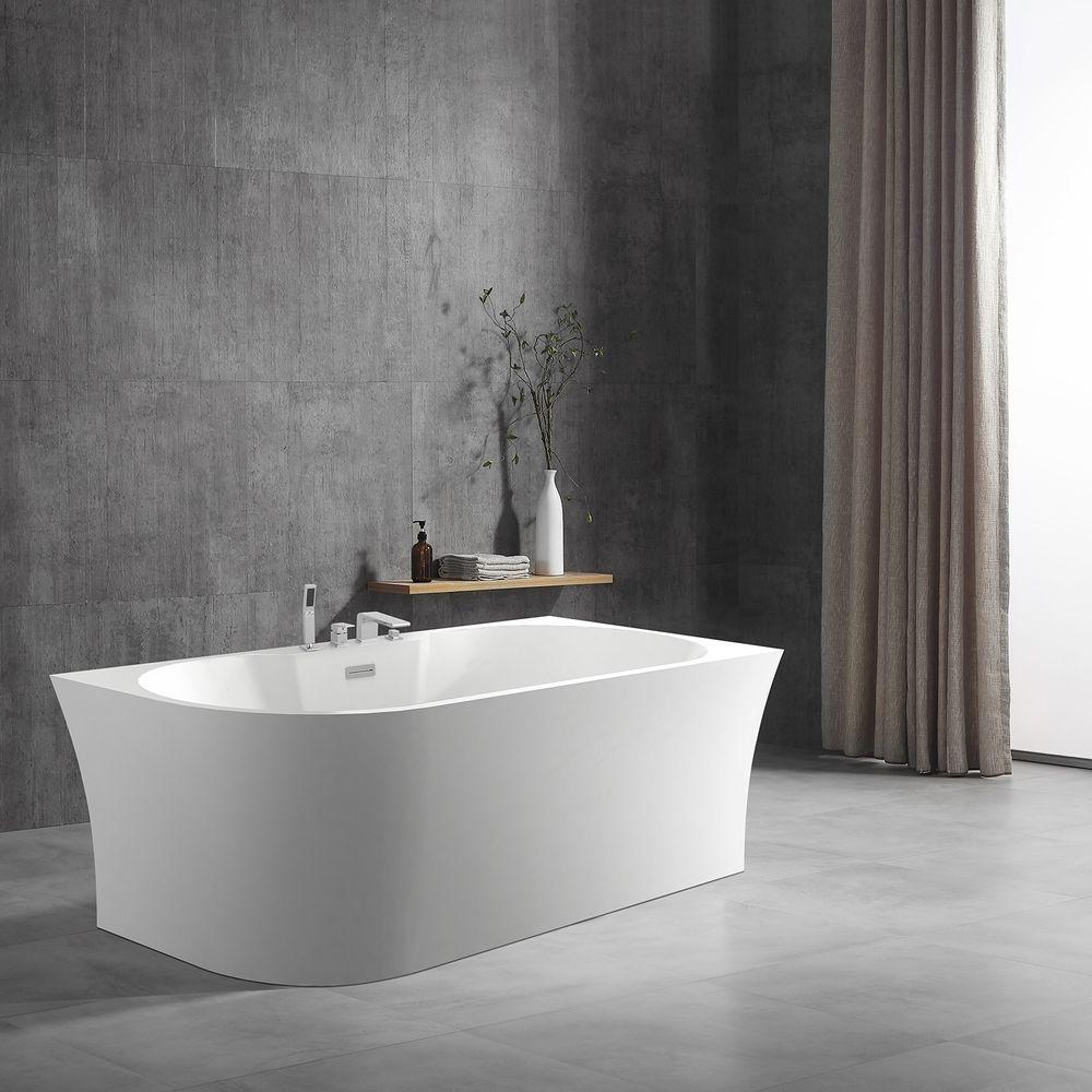 Vrijstaand bad NOVA CORNER PLUS in sanitair acryl wit - installatie rechterzijde - 170 x 78 cm - kranen 6080 optioneel – Bild 1