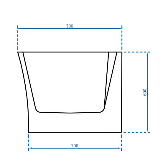 Vrijstaand bad NOVA CORNER PLUS in sanitair acryl wit - installatie rechterzijde - 170 x 78 cm - kranen 6080 optioneel – Bild 8