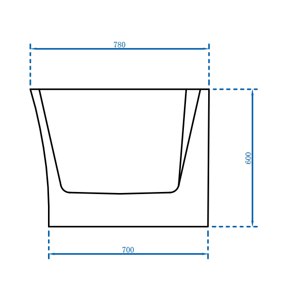 Freestandung acrylic bathtub NOVA CORNER PLUS - white - right installation - 170 x 78 cm - optional tap – Bild 8
