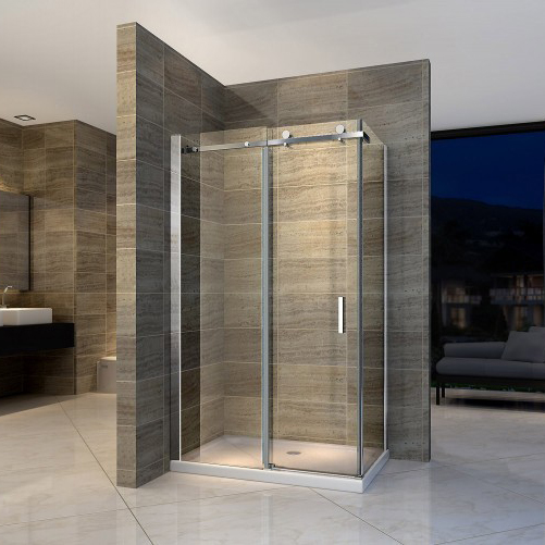 Sliding shower enclosure - EX802 - NANO -90 x 100 x 195 cm - various thicknesses available  – Bild 1