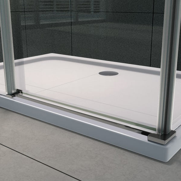 Sliding shower enclosure - EX802 - NANO -90 x 100 x 195 cm - various thicknesses available  – Bild 6