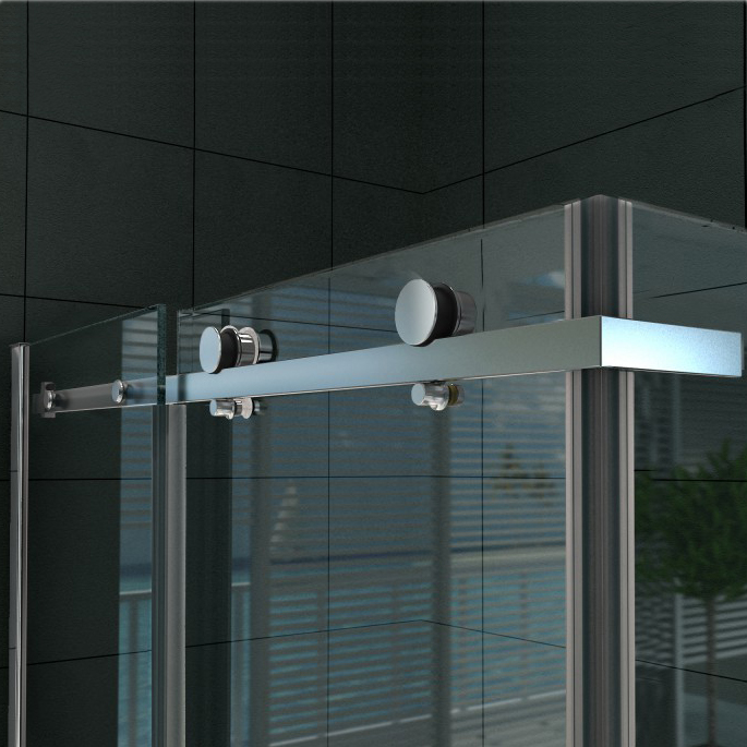 Sliding shower enclosure - EX802 - NANO -90 x 120 x 195 cm - various thicknesses available and optional tray  – Bild 5