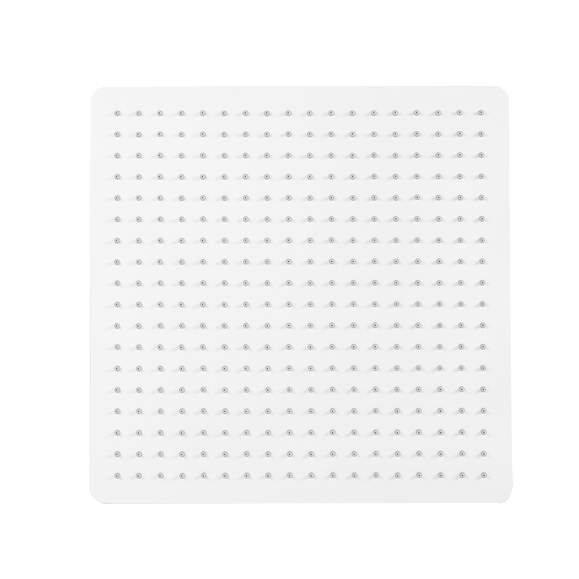 XXL-Regendusche Edelstahl-Duschkopf DPG2001 superflach in Weiß Matt - 40 x 40 cm