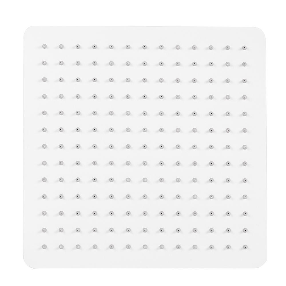 Pommeau de douche carré avec jet effet pluie - en acier inoxydable - blanc - DPG2005 -  30 x 30 cm – Bild 1
