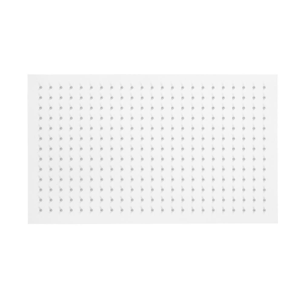 Pommeau de douche avec jet effet pluie - en acier inoxydable - blanc - DPG2051 -  50 x 30 cm – Bild 1
