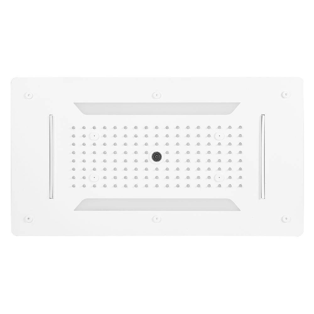 XXL-Regendusche Edelstahl-Deckenbrause DPG5030 superflach weiß matt - 70 x 38 cm - Deckeneinbau – Bild 1
