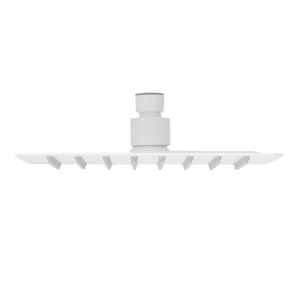Pommeau de douche carré avec jet effet pluie - en acier inoxydable - blanc - DPG2023 -  20 x 20 cm – Bild 2