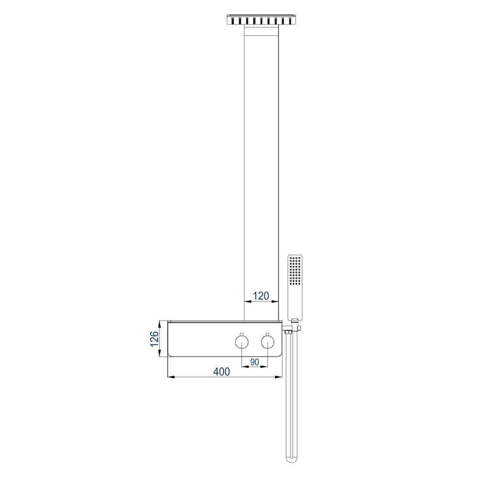 Thermostatic Shower System NT038 Pro - Made od Stainless Steel  - Matt Black Finish – Bild 14