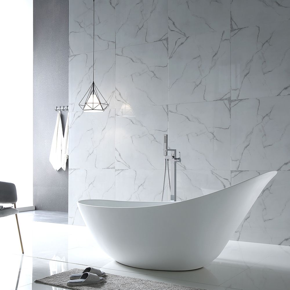 Freestanding Bathtub SOPHIE- glossy white-190 x 80 x 82,80 cm  - optional taps – Bild 6