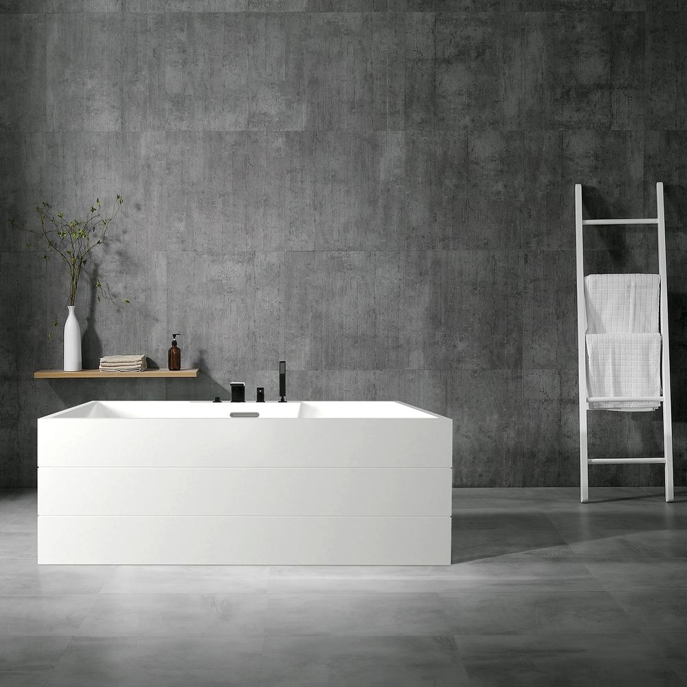 Freestanding Bathtub NADI PRO PLUS - Sanitary acrylic - 170 x 75 x 60 cm - white - optional tap – Bild 3