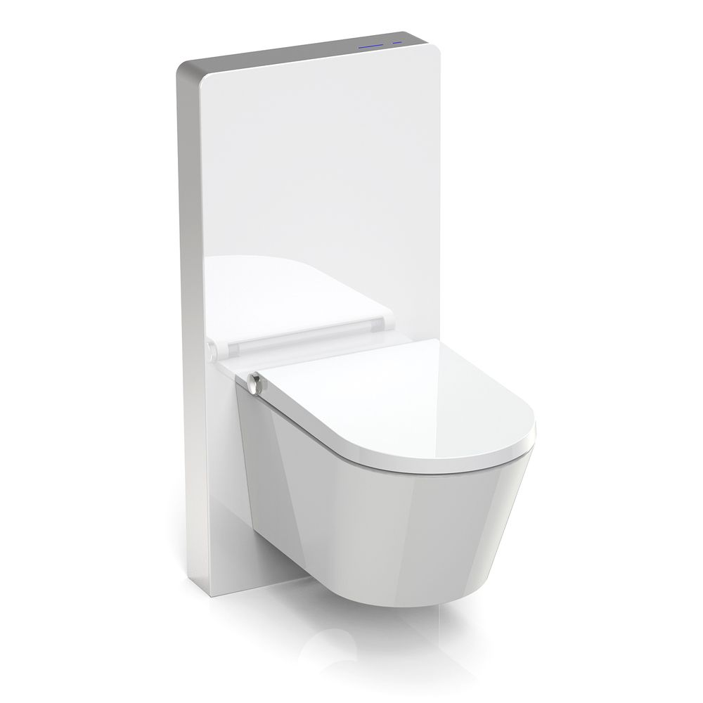 Concealed system 805S for Wall-mounted toilets - white or black Glass  - with sensor – Bild 2