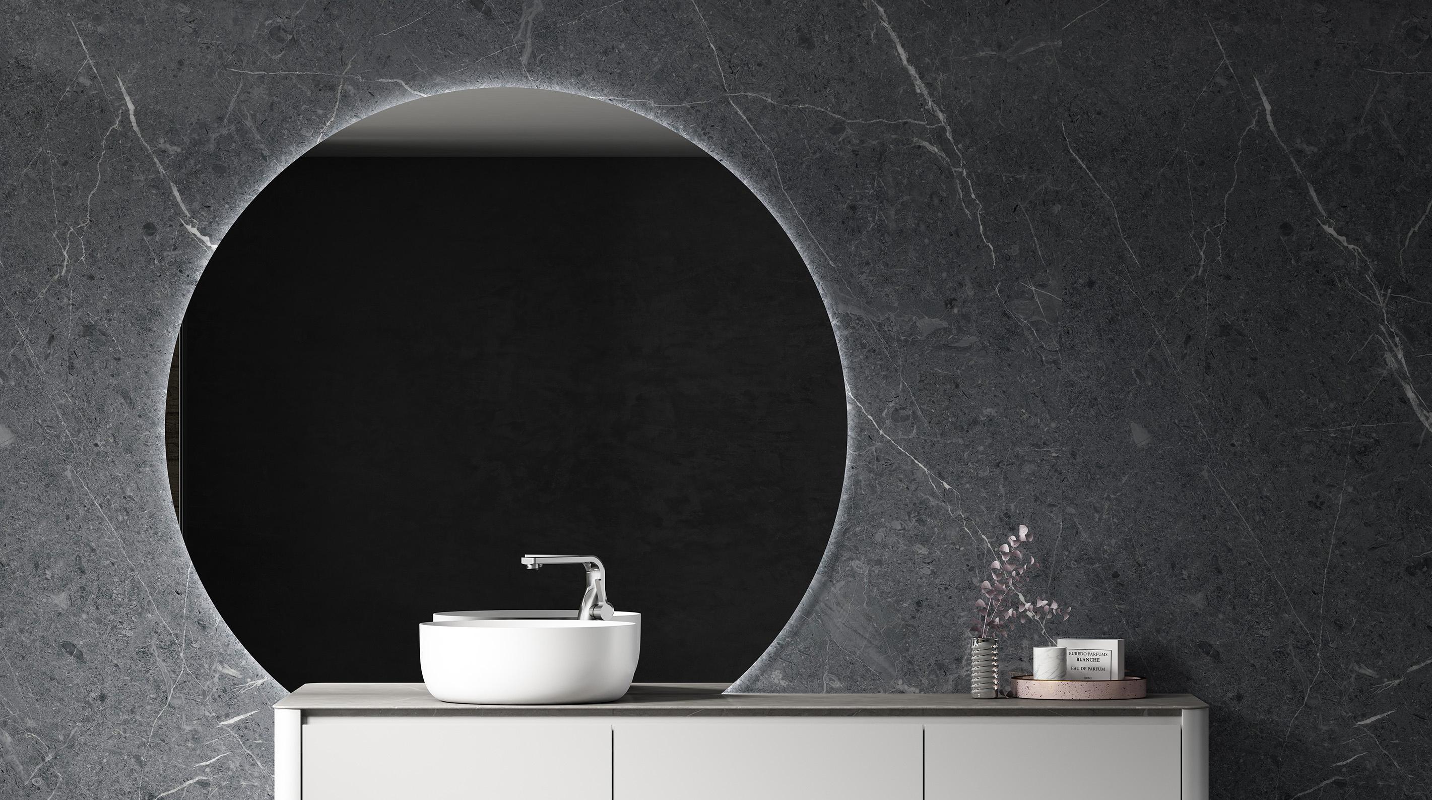 lichtspiegel bad rund