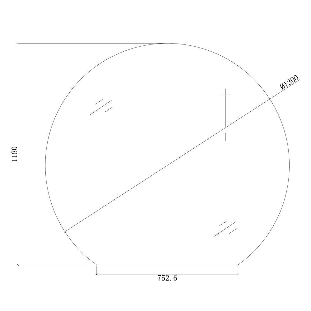 LED Lichtspiegel Badspiegel rund BOVA mit Spiegelheizung - 130 x 118 cm – Bild 4