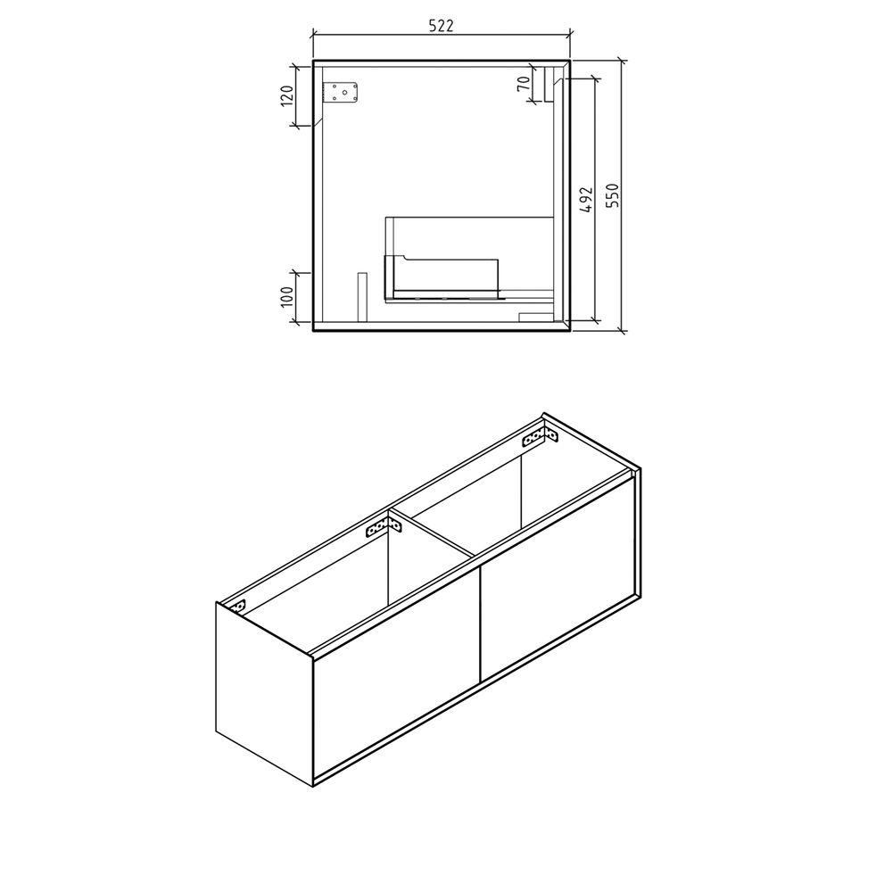 Badmöbel-Set Freya 1900 Beton-Optik mit LED Beleuchtung – Bild 13